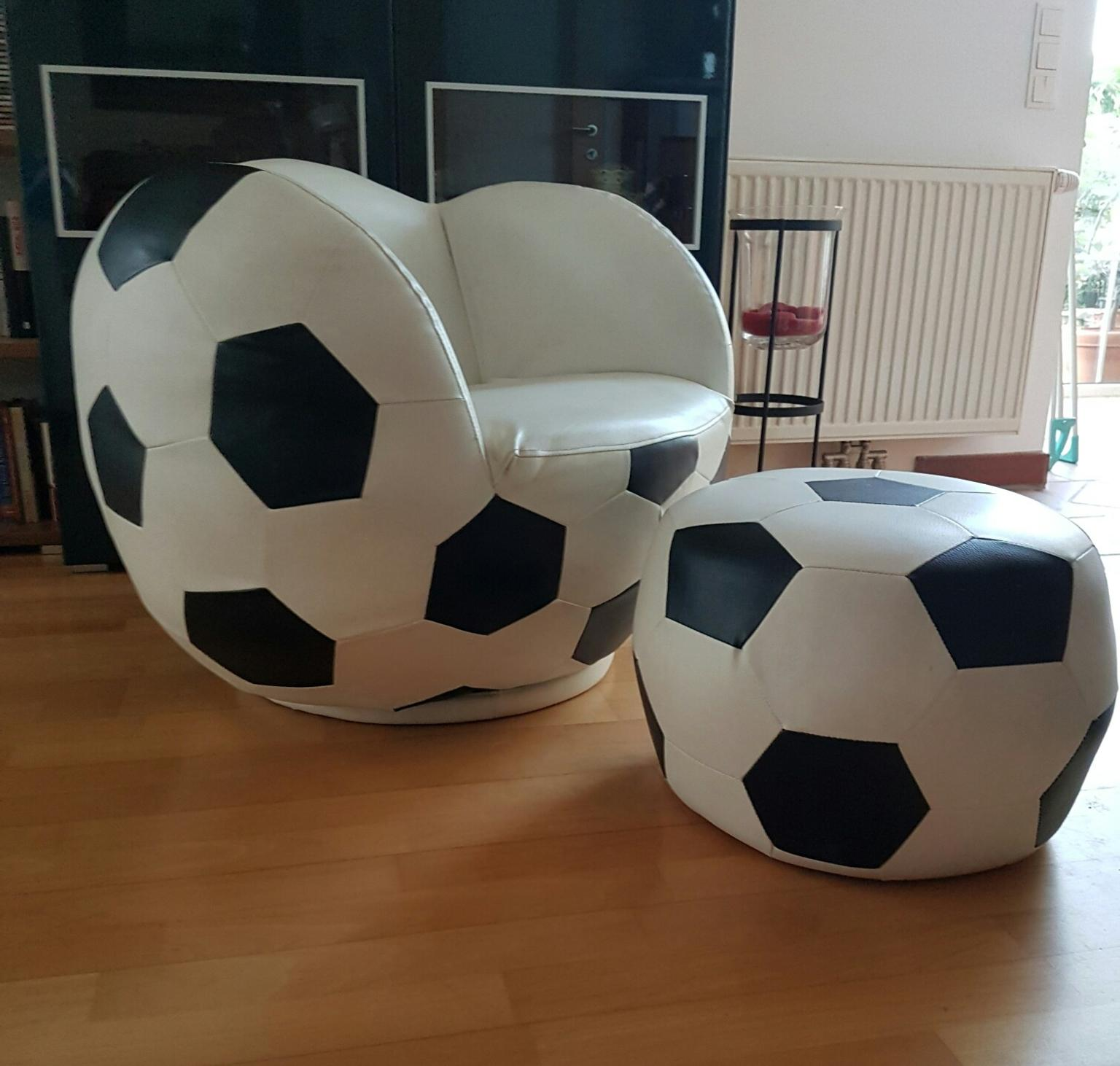 Football Sessel Fußball Sessel Mit Hocker
