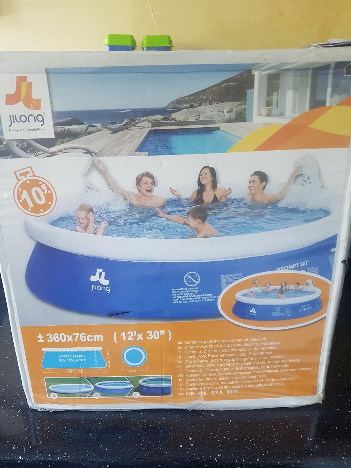 Bestway Frame Pool Untergrund Brand New 12ft Pool
