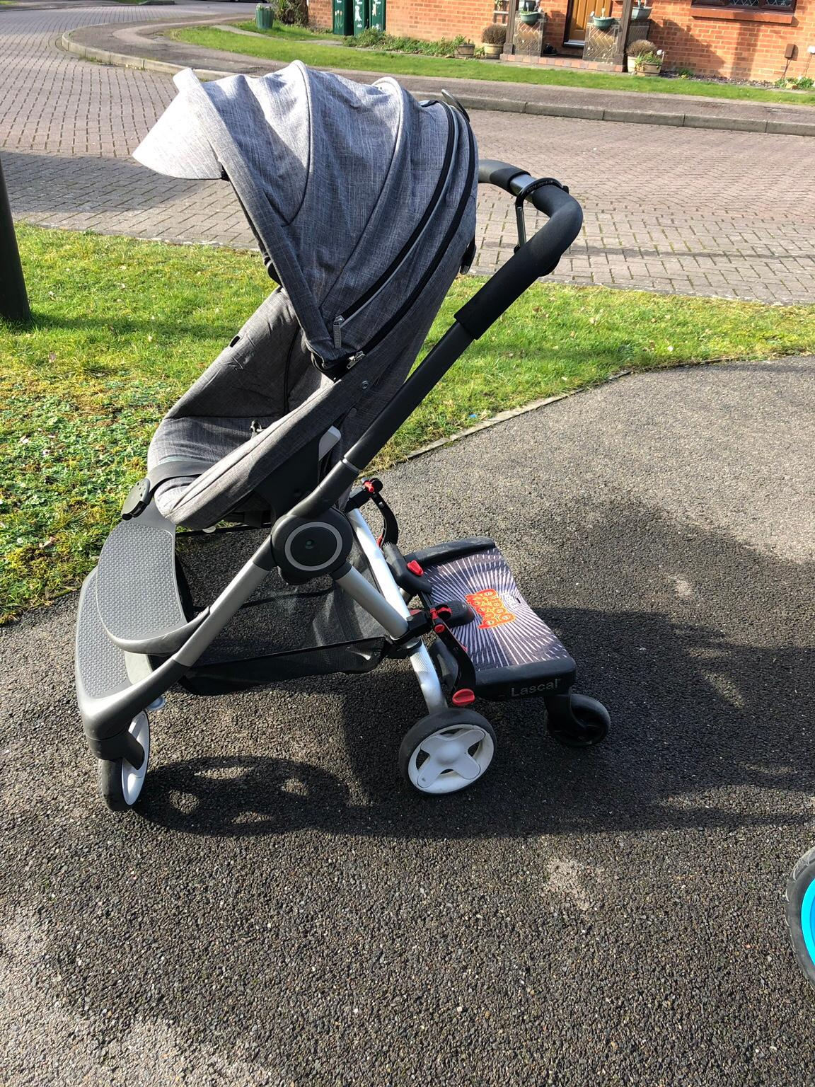 Stokke Scoot Buggy Board Stokke Pushchair With Buggy Board And Extras