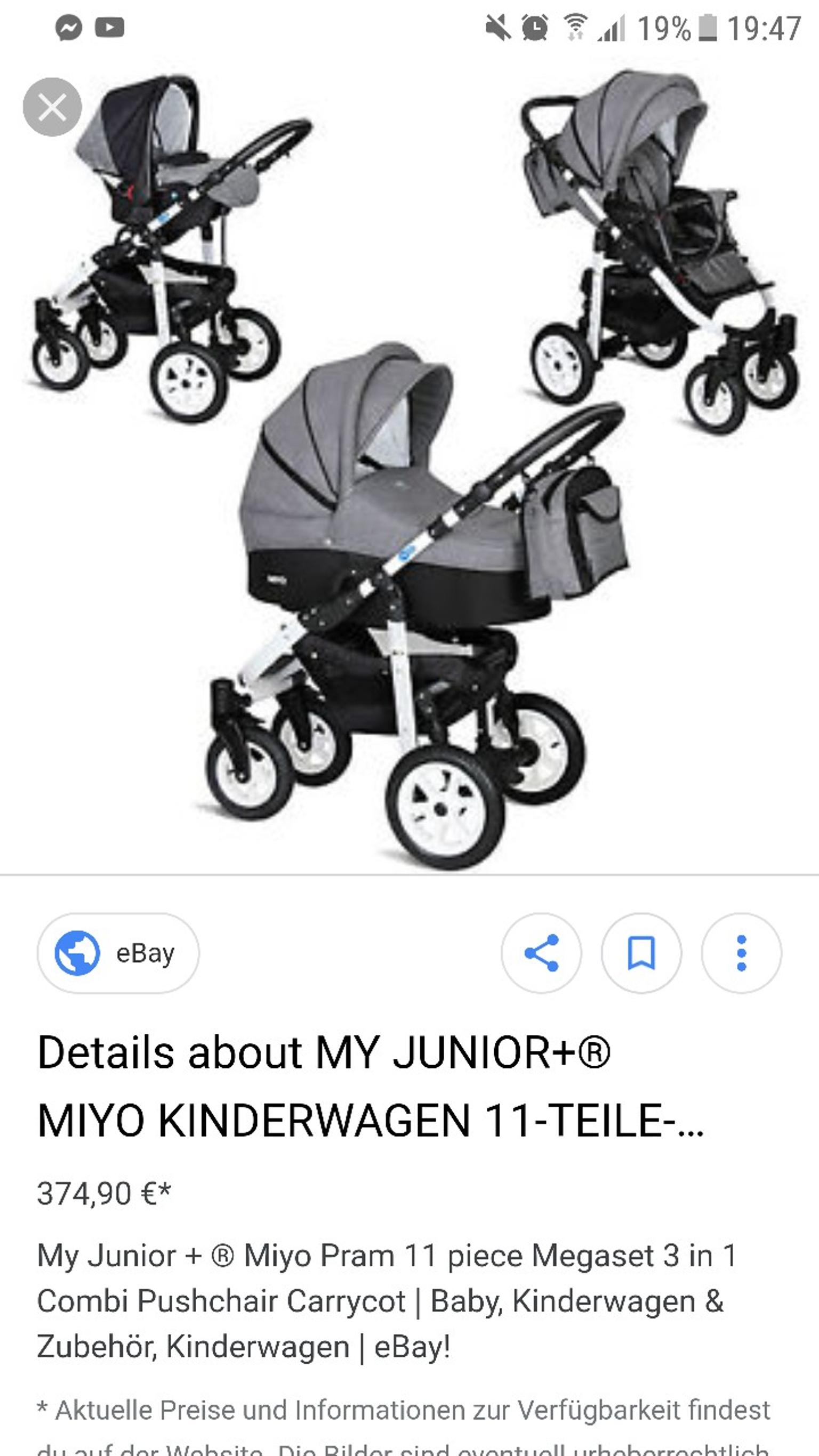 My Junior Miyo Ebay Kombi Kinderwagen 3 In 1