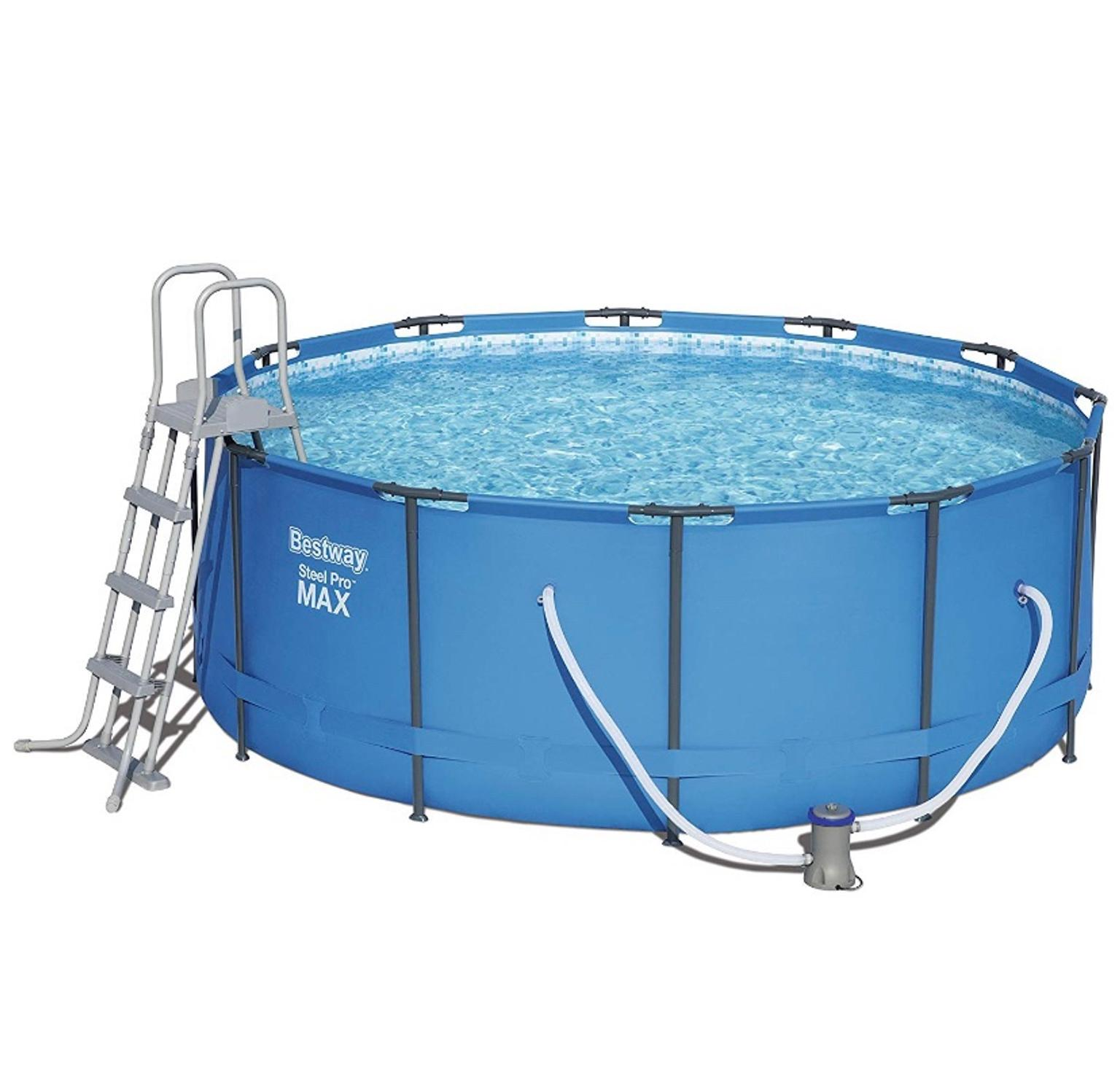 Pool Komplettset Amazon Bestway Steel Pro Frame Pool 366 X 122cm Blau