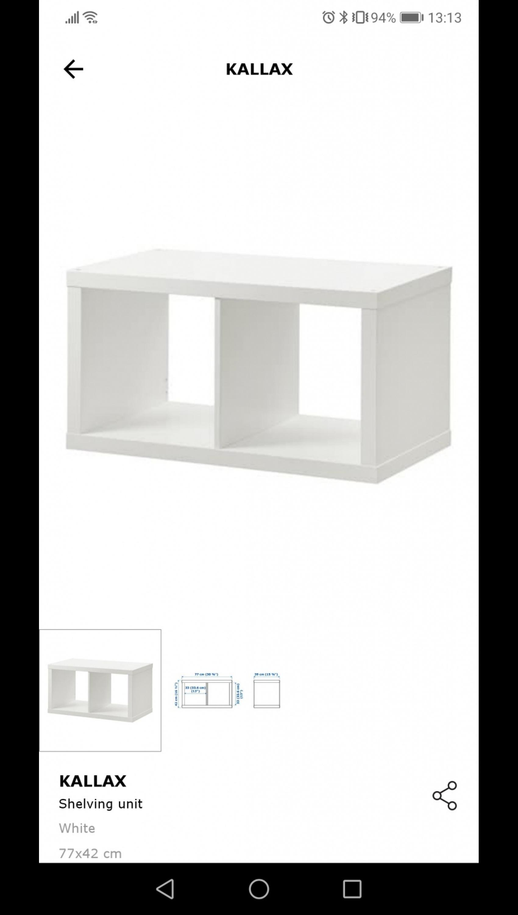 Home Kitchen Laundry Storage Organisation Shelving Storage 77x42 Cm 2 X Ikea Kallax Shelving Unit In White Kubicolab It