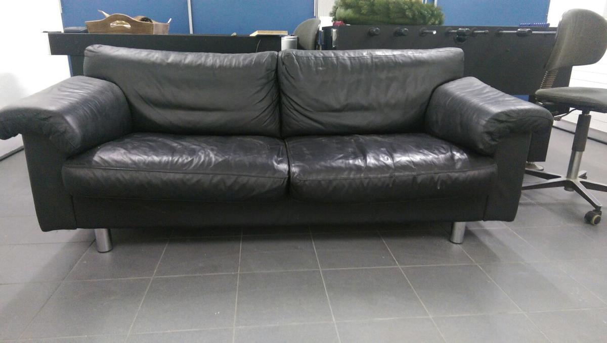 Ledercouch Couch Sofa Ledersofa Schwarz In 52068 Aachen For 70 00 For Sale Shpock