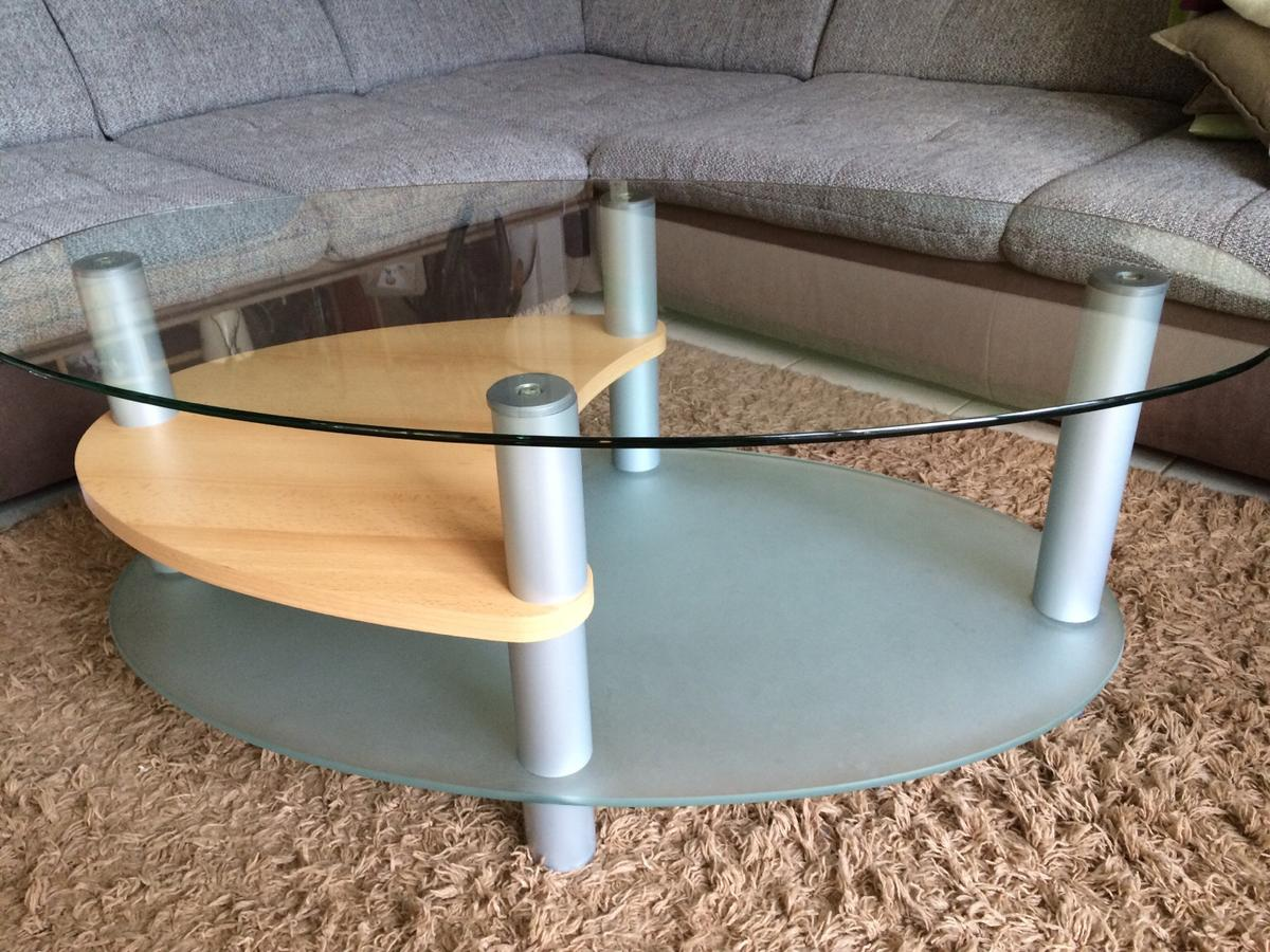Couchtisch Oval Glas Buche In 21035 Hamburg For 25 00 For Sale Shpock