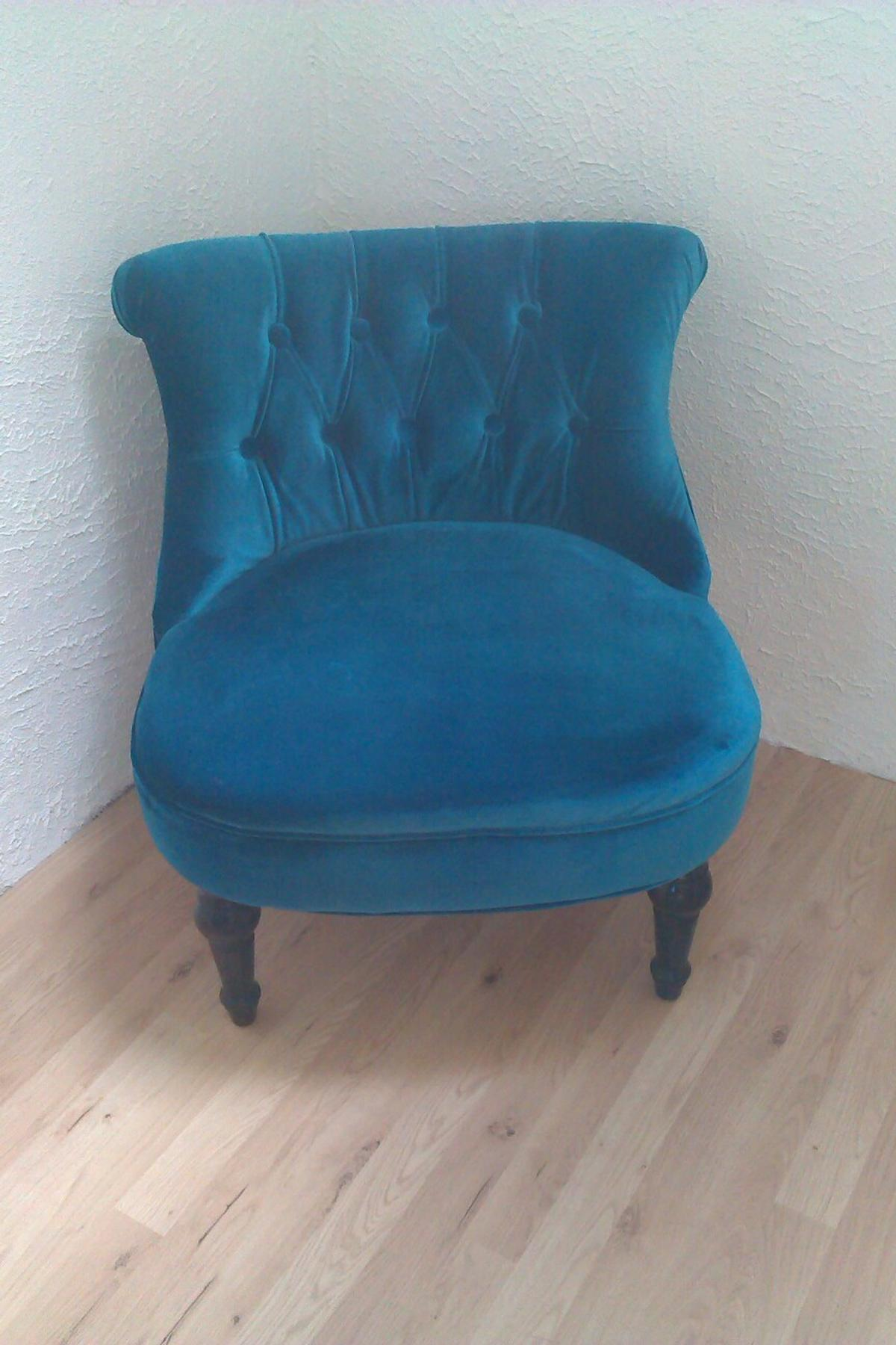 Sessel Blau Chesterfield Sessel Blau In 67699 Schneckenhausen For €110.00 For Sale | Shpock
