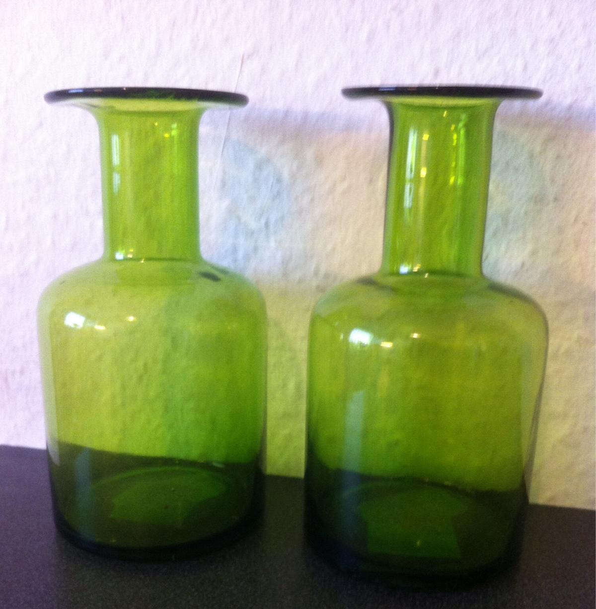 2 Glasvasen Vase Glas In Grün Neu In 82110 Germering For 8 00 For Sale Shpock