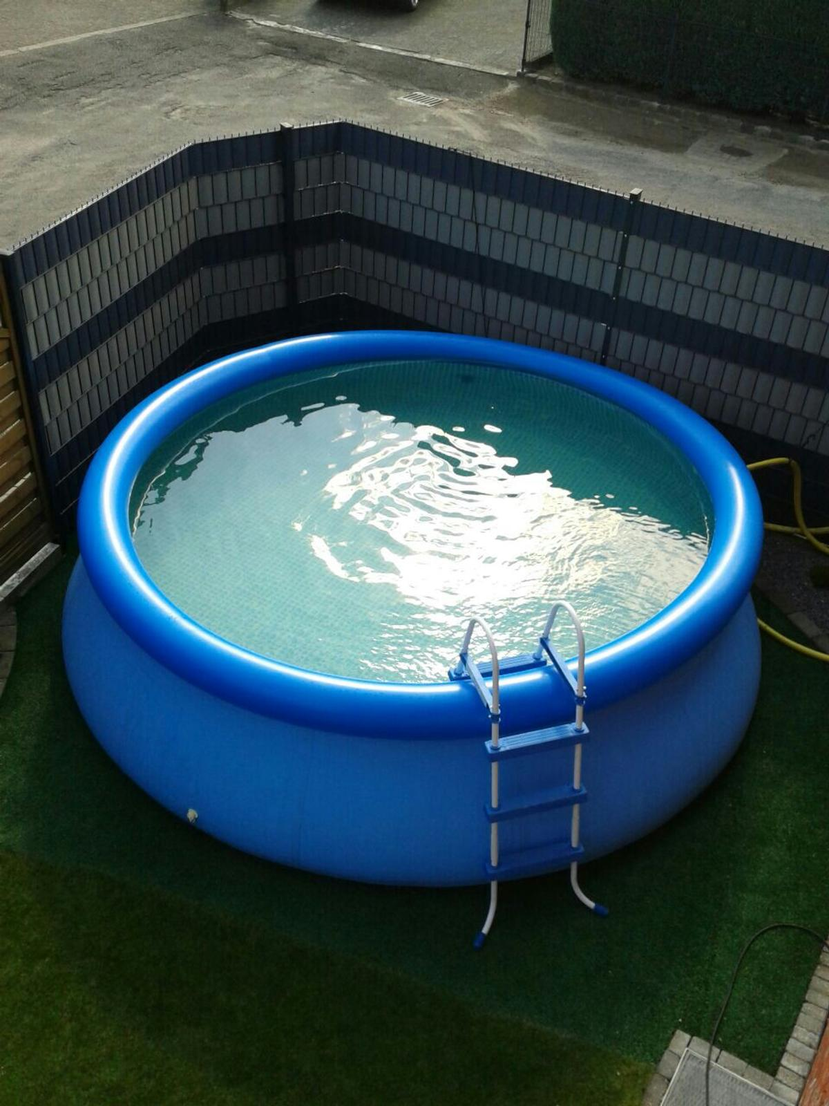 Pool Mit Filter Und Abdeckung Intex Easy Set Pool 366x91 Leiter Pumpe
