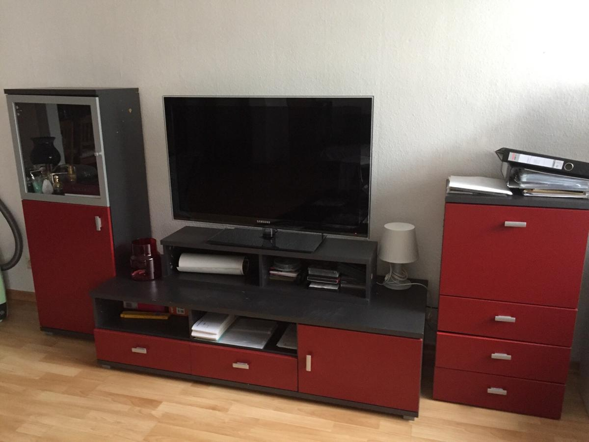 Wohnwand Rot Anthrazit In 63067 Offenbach Am Main For 20 00 For Sale Shpock