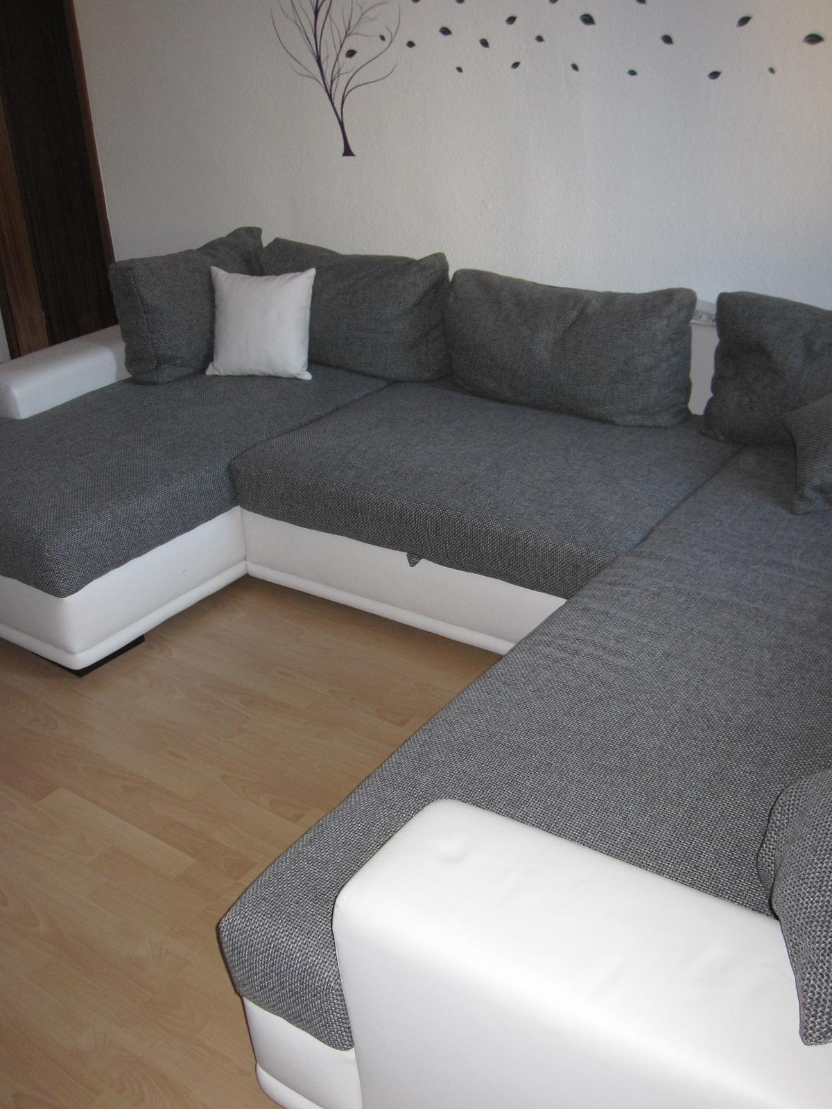 Couch U Form Grau Wohnlandschaft Xl Couch U Form Weiß Grau Schl In 67346 Speyer For €590.00 For Sale | Shpock