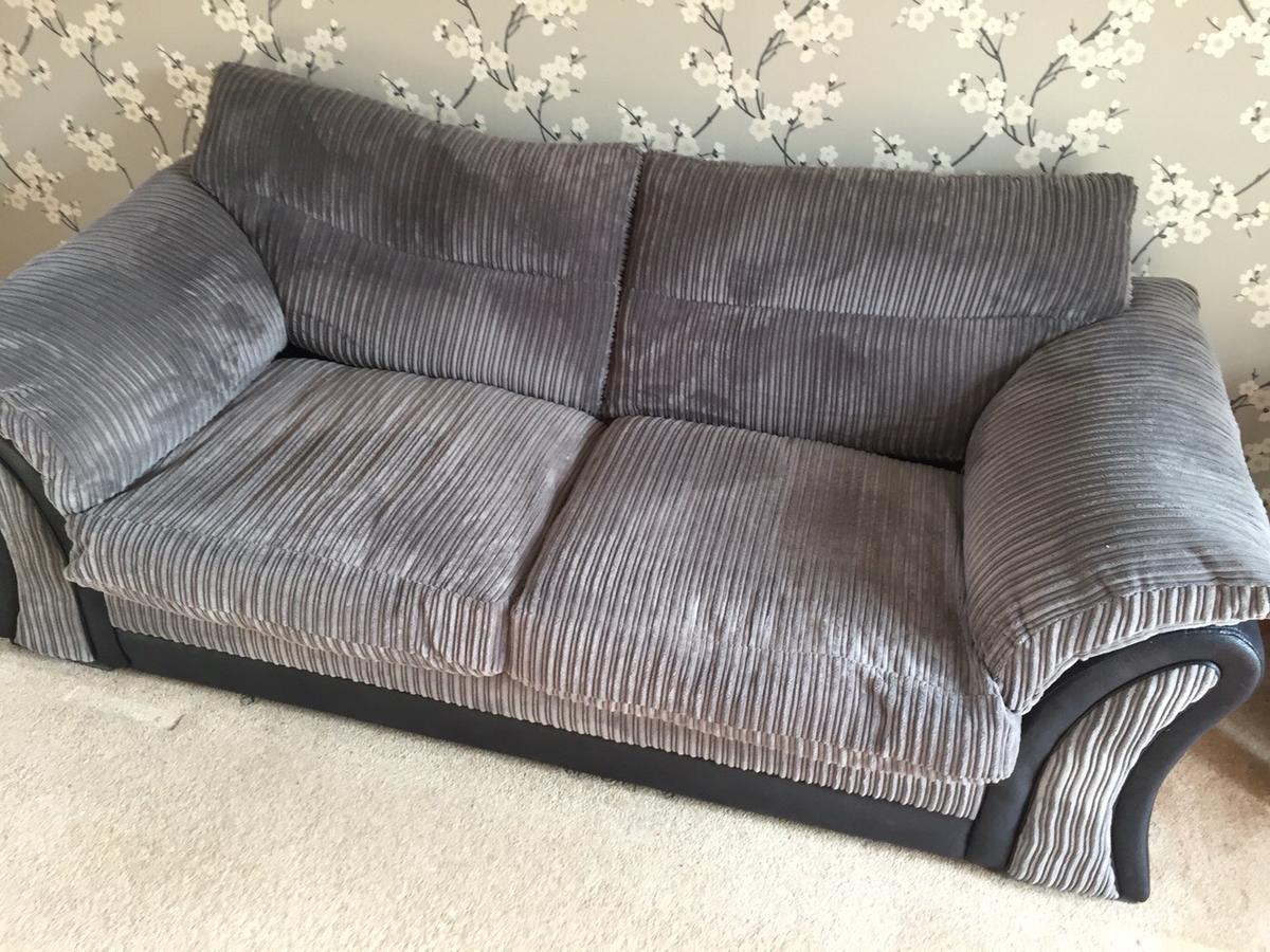 Cord Sofa Dfs Grey Jumbo Cord Sofa And 2 Footstools In Bs15 Bristol For