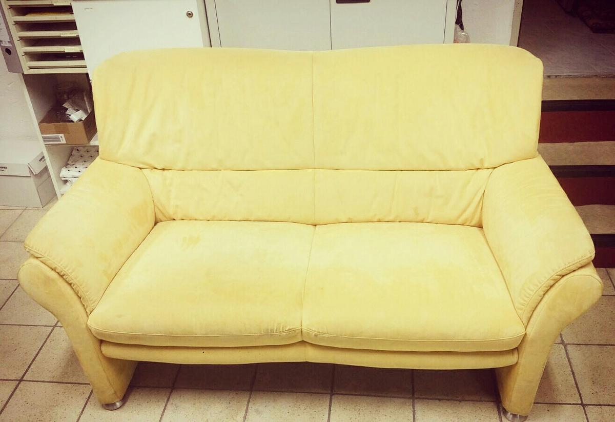 Sofa Veloursleder Sofa / Couch-kombination, Veloursleder In 55126 Mainz For €100.00 For Sale | Shpock