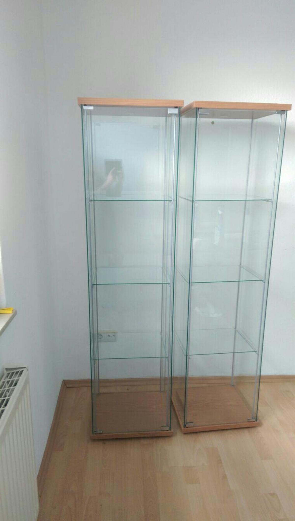Glasvitrine Chrom Ikea Glasvitrinen 2 Stück Vb In 27755 Delmenhorst For €40.00 For Sale | Shpock