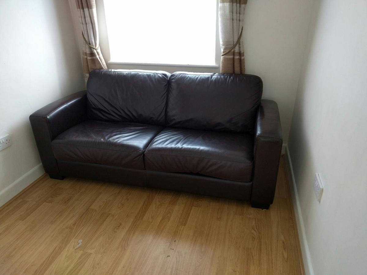 Leather Sofabed Sofa Double Bed Dante In Tw5 Hounslow For 130 00 For Sale Shpock