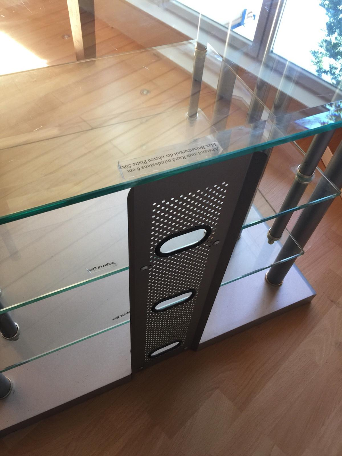 Tv Rack Glas Mit Rollen Tv-rack Glas (bfk-collection) In 68723 Oftersheim For €1.00 For Sale | Shpock