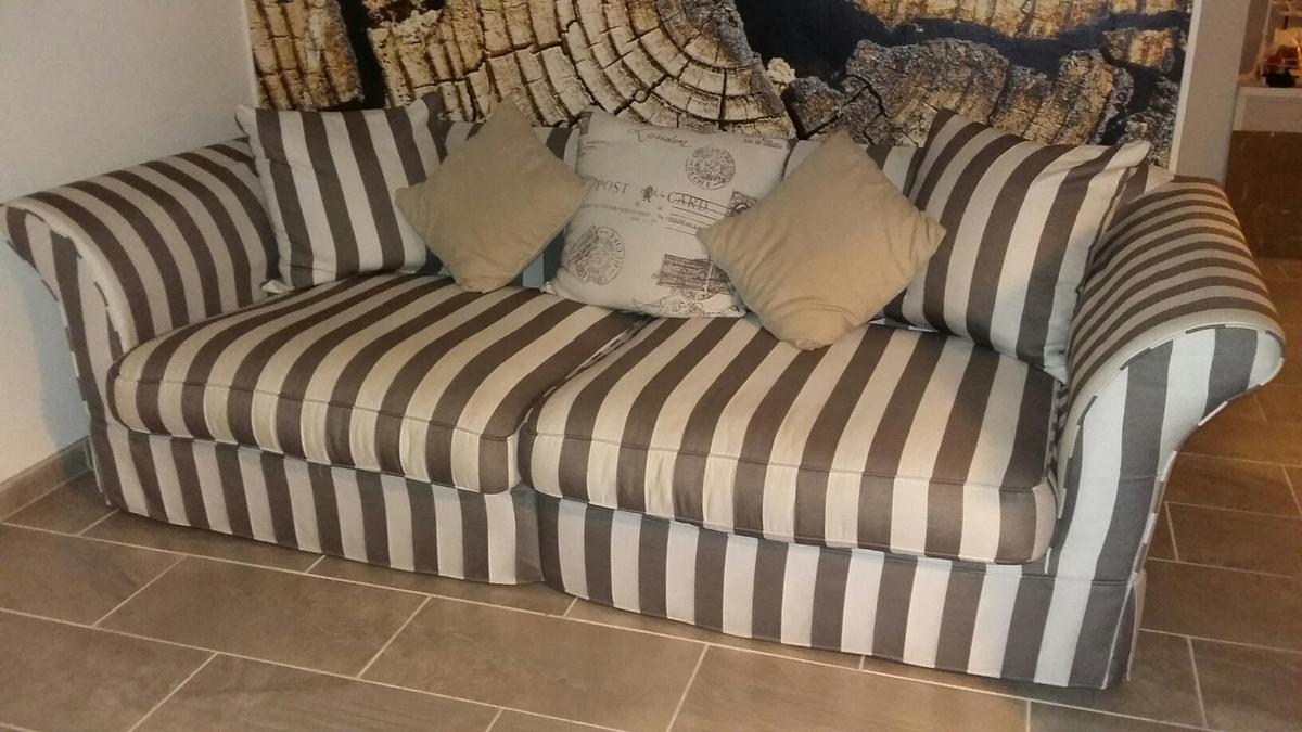 Couch Im Landhausstil Rahaus Sofa/couch Landhaus Grau-ecru, 2jahre In 12305 Berlin For €250.00 For Sale | Shpock