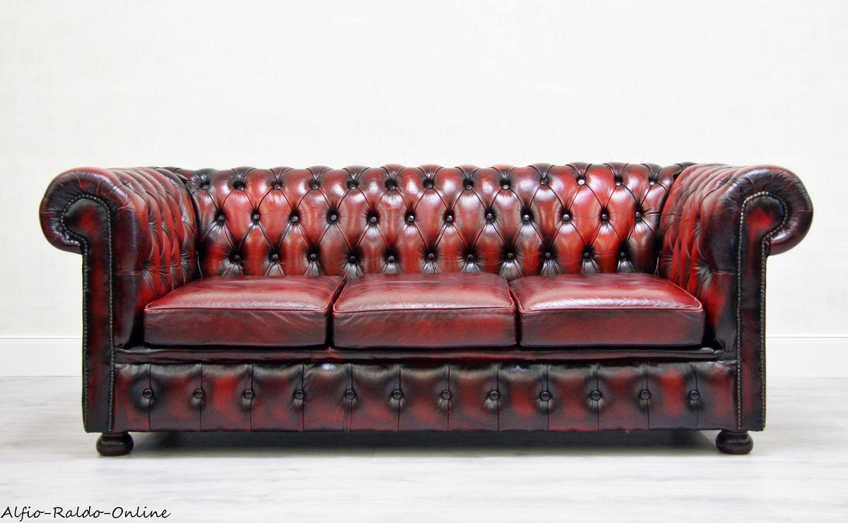 Chesterfield Sofa Leder Rot Chesterfield Sofa Leder Alt Antik Vintage In 32758 Detmold For