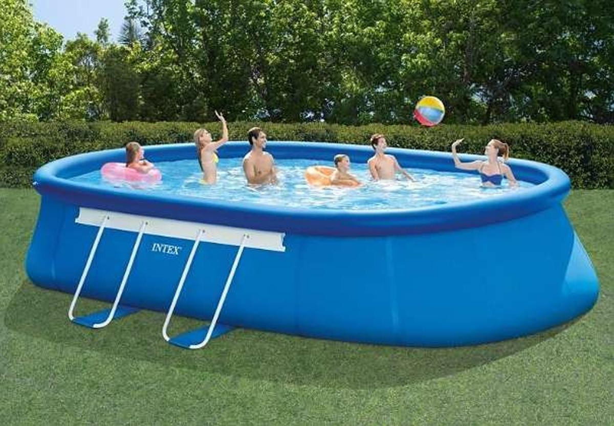 Zgonc Pool Zubehör Intex Pool Set Oval 6 1 X 3 66 Hofer
