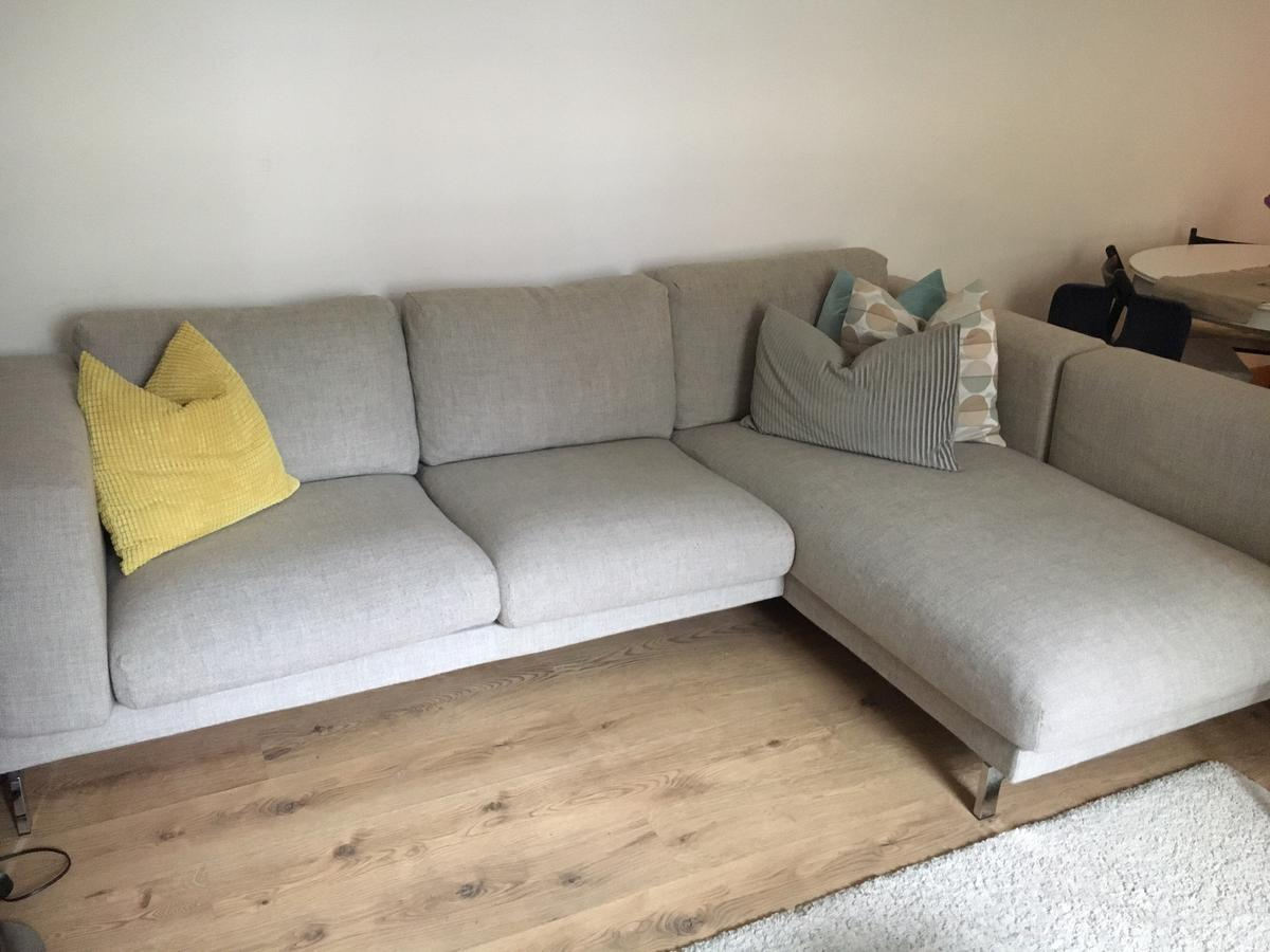 Nockeby Sofa Light Grey Ikea Nockeby Corner Sofa In Light Grey Wood In Wc1h London For
