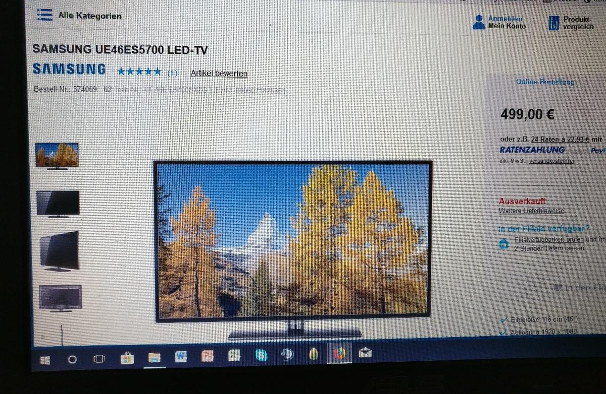 Led Prüfen Samsung Ue46es5700 Led Tv Smart Tv