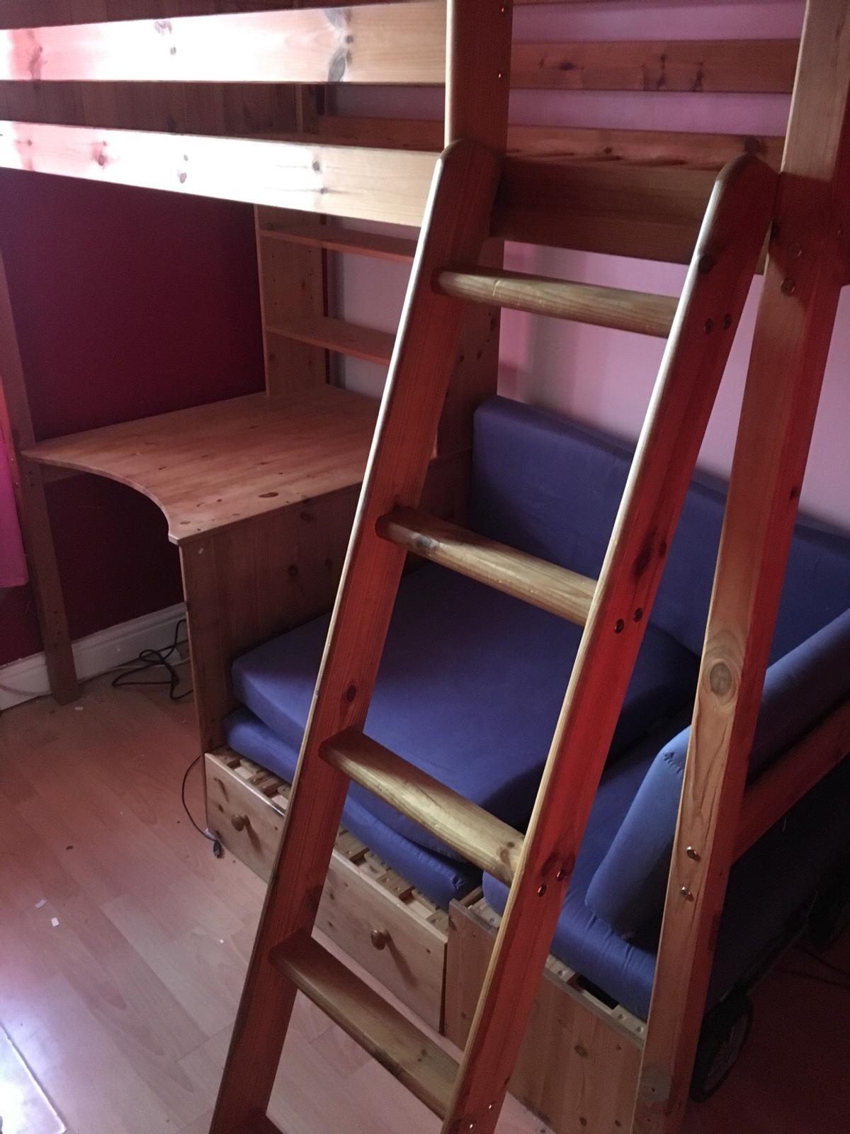 Thuka Cabin Bed Thuka High Rise Bed With Desk And Futon In S12 Sheffield For
