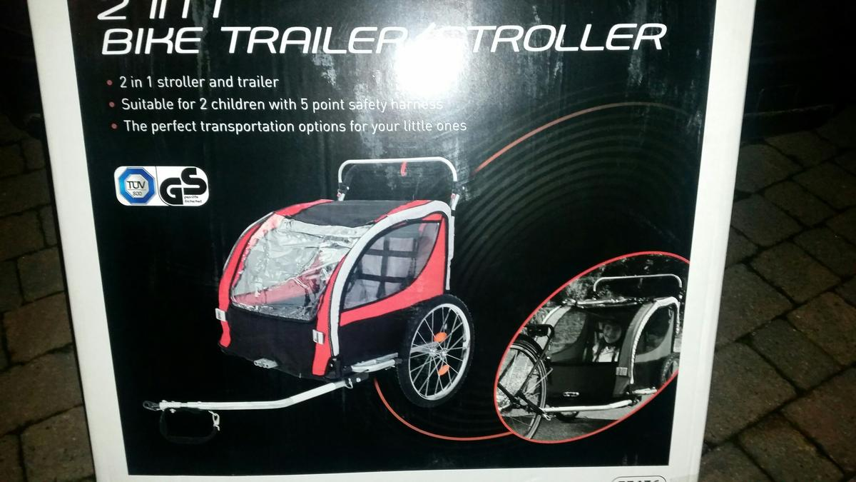 Baby Buggy Mercedes 2 Child Bicycle Trailer Stroller Buggy New
