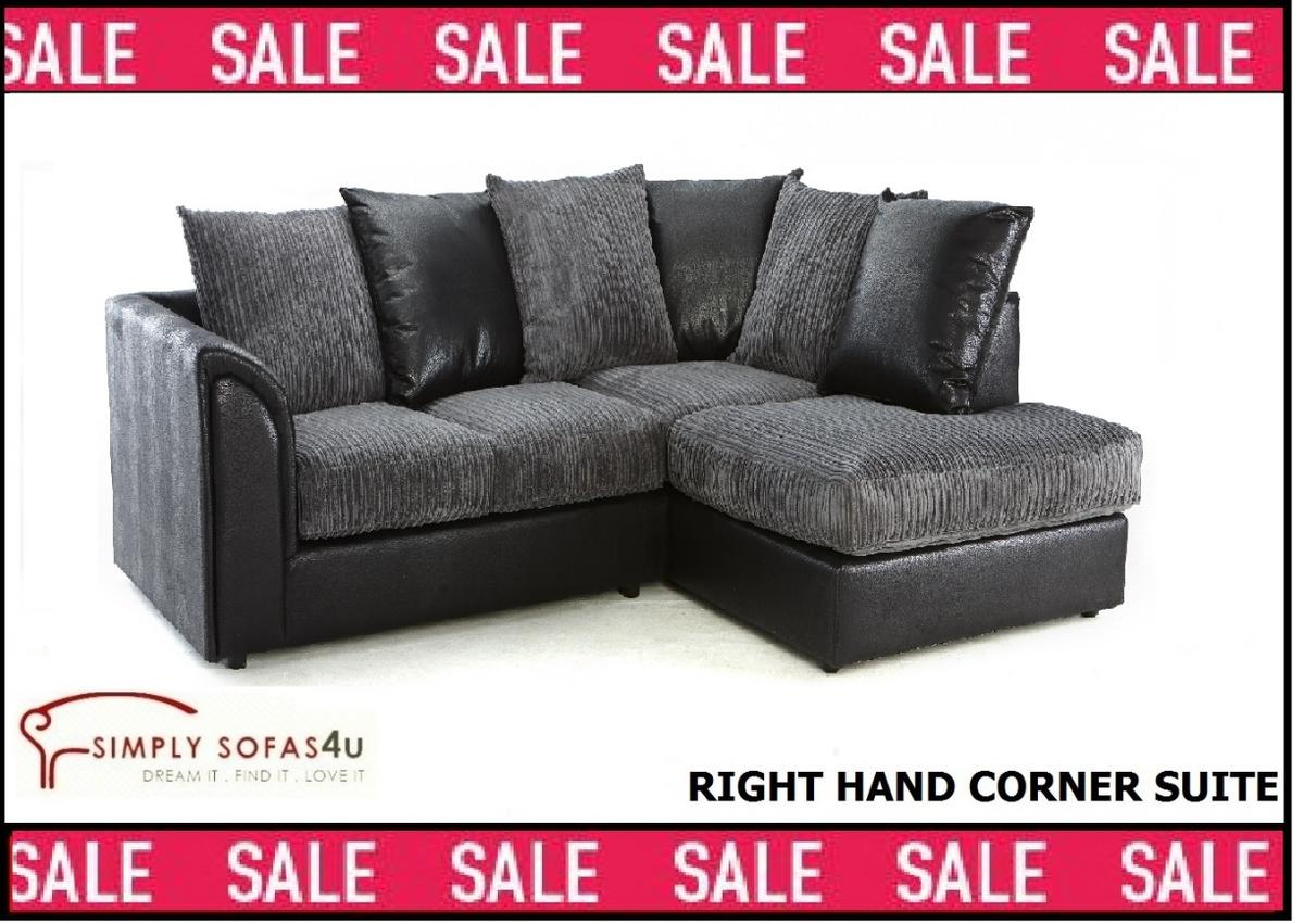 Corner Sofa Bed Jumbo Cord Byron Corner Sofa Black And Grey Jumbo Cord In Dy2 Birmingham For