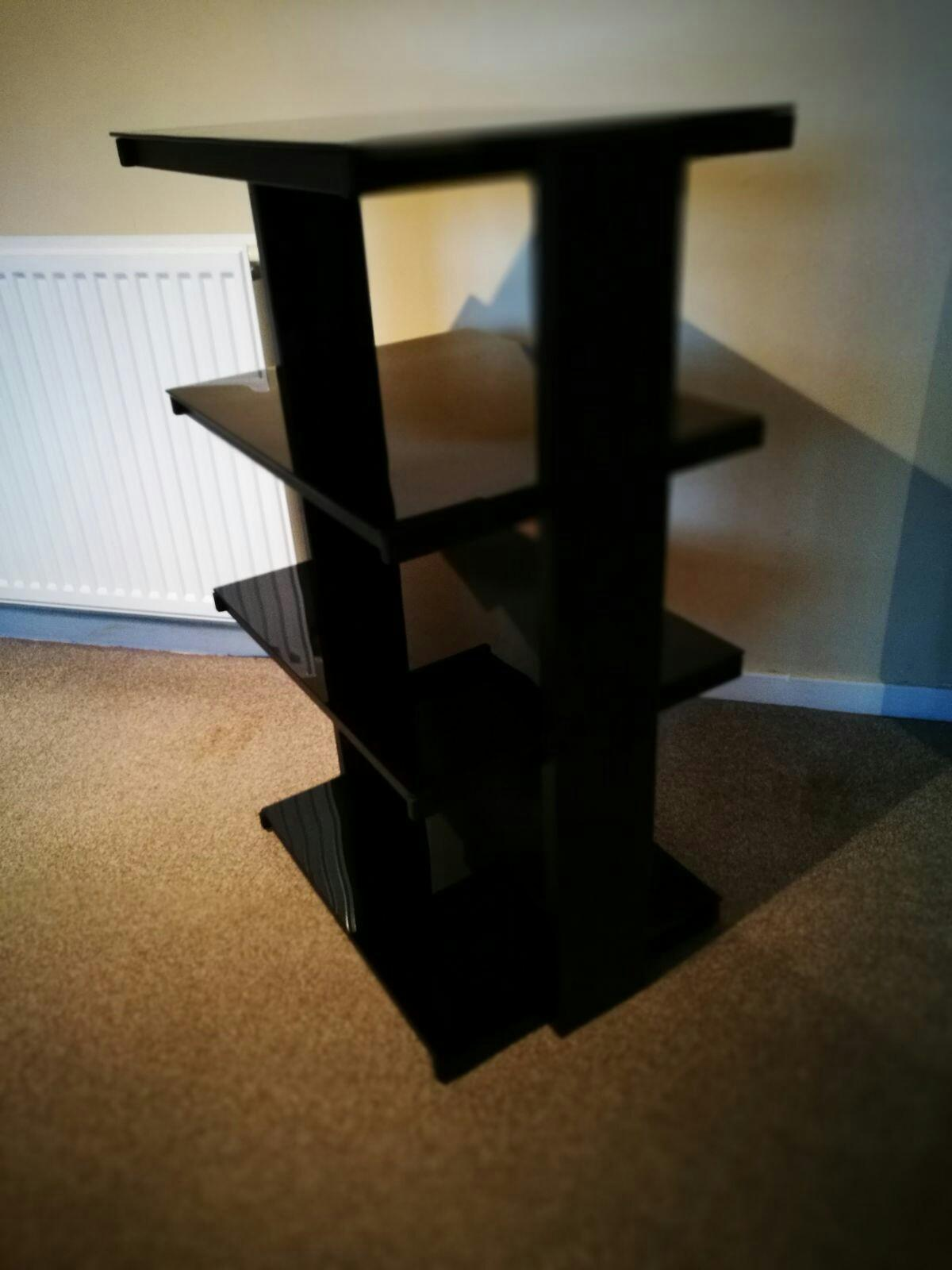 Hifi Rack Design Black Glass Hifi Rack
