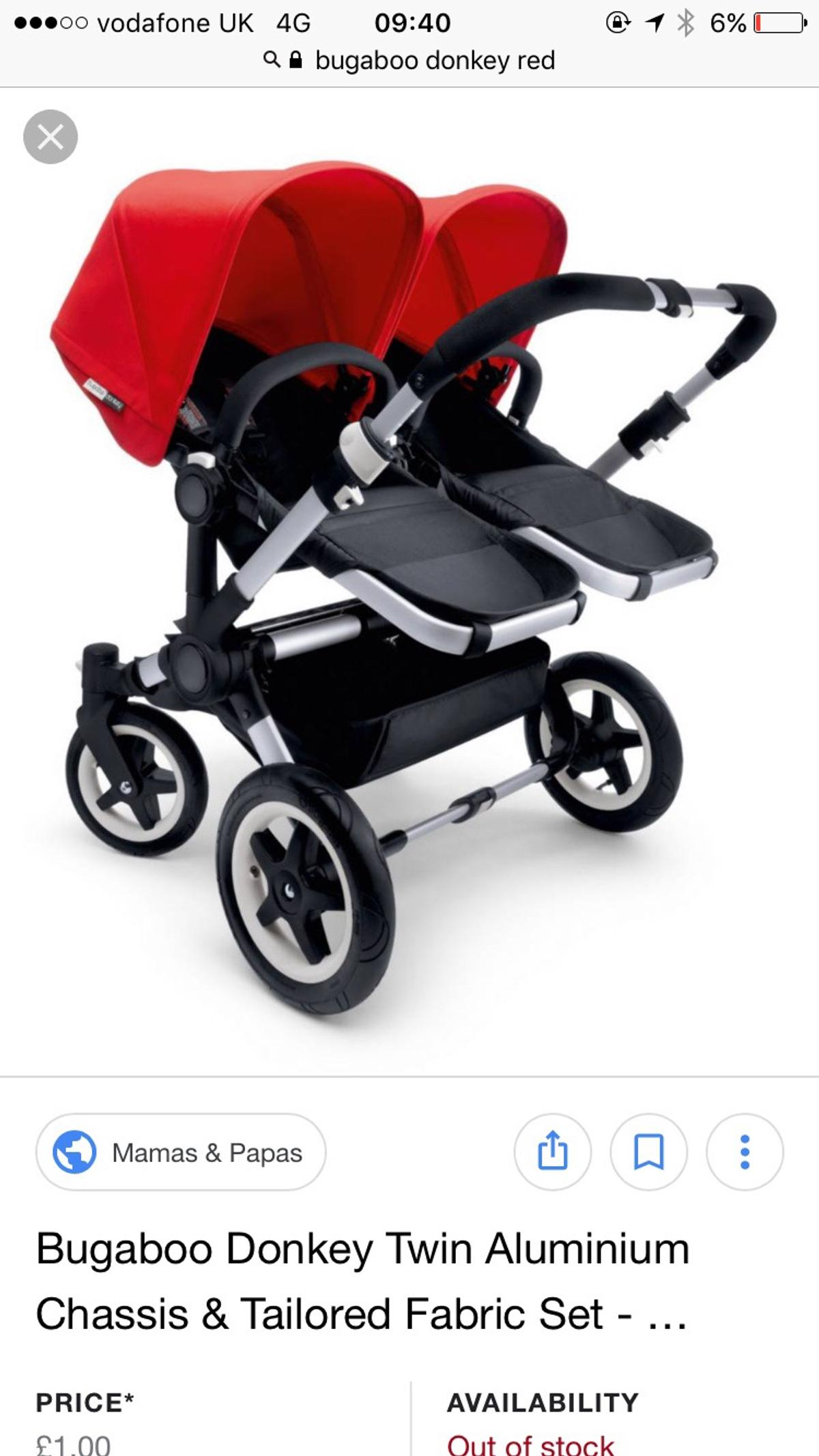 Double Pushchair Bugaboo Bugaboo Donkey Double Buggy V Good Condition In E9 London