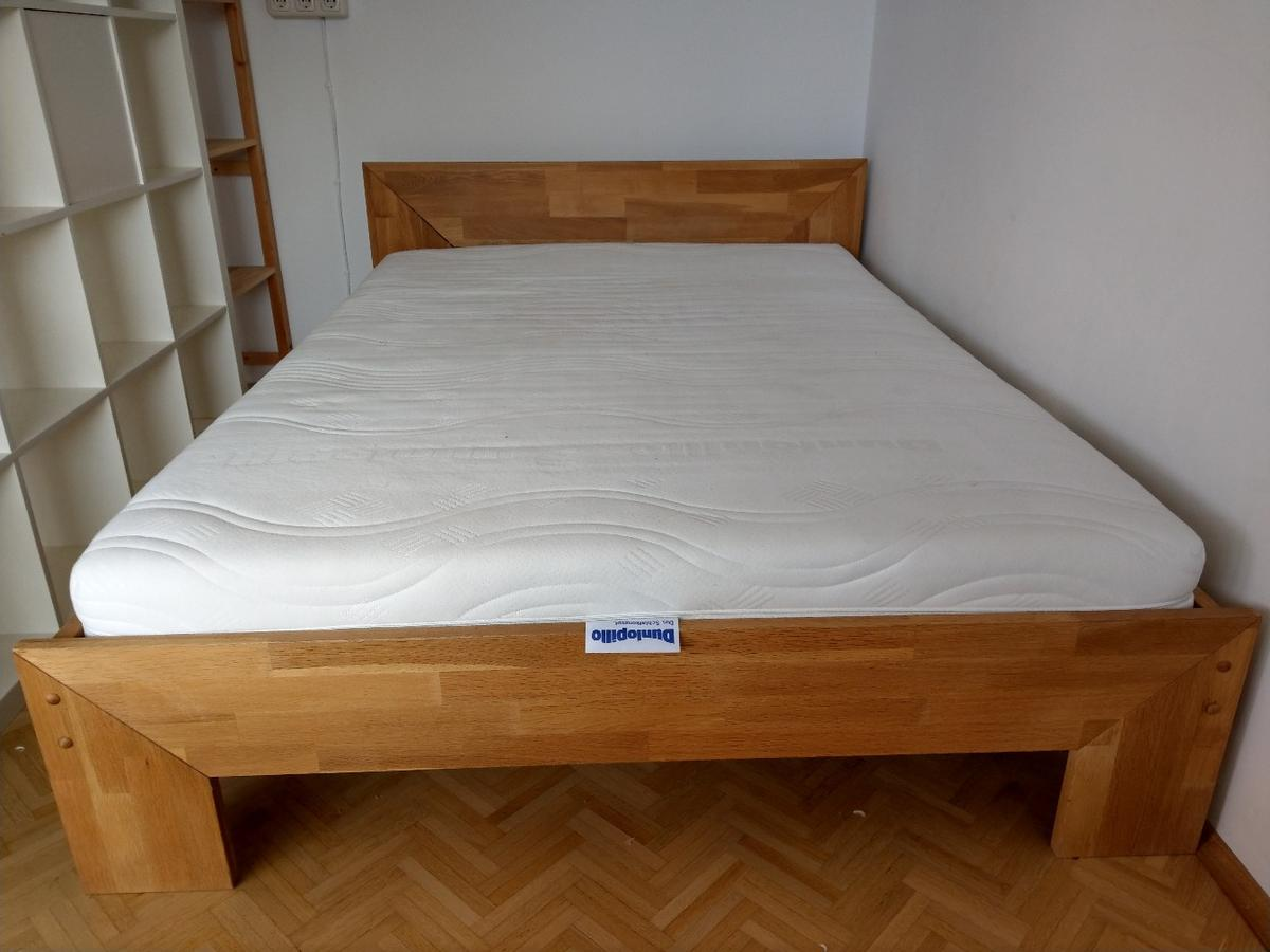 Bettgestell 140x200 Holz Bett 140x200 Eiche, Massiv In 80807 München For €150.00 For Sale | Shpock