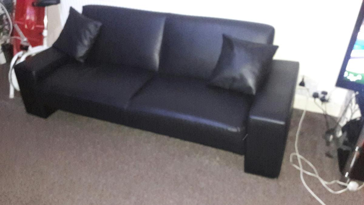Couch Kaufen Black Leather Sofa Cum Bed