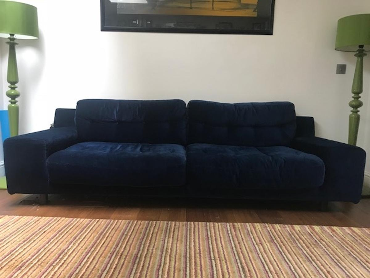 Habitat Sofa Habitat Hendricks Sofa 4 Seater Navy Velvet In N1 London For