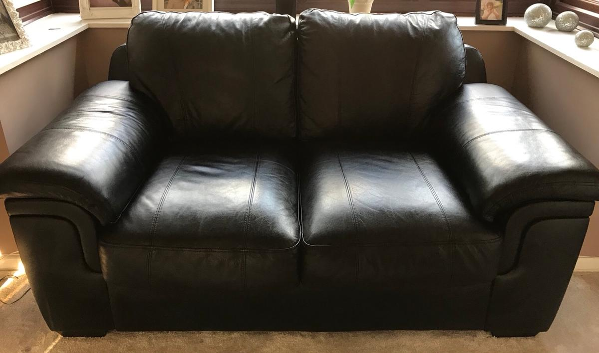 Two Leather Sofa S 3person 2person In Wr4 Worcester For 170 00 For Sale Shpock
