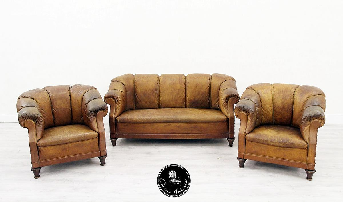 Sessel Restaurieren Kosten Chesterfield Garnitur Antik Sofa Sessel Leder In 32791 Lage For
