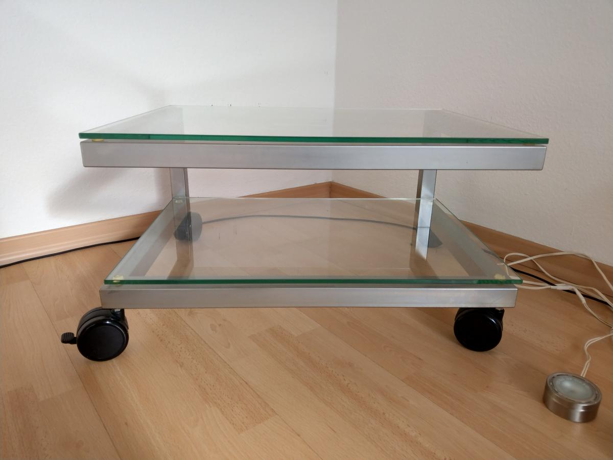 Tv Rack Glas Mit Rollen Tv-rack Fernseh-rack Glas / Metall In 70195 Stuttgart For €65.00 For Sale | Shpock