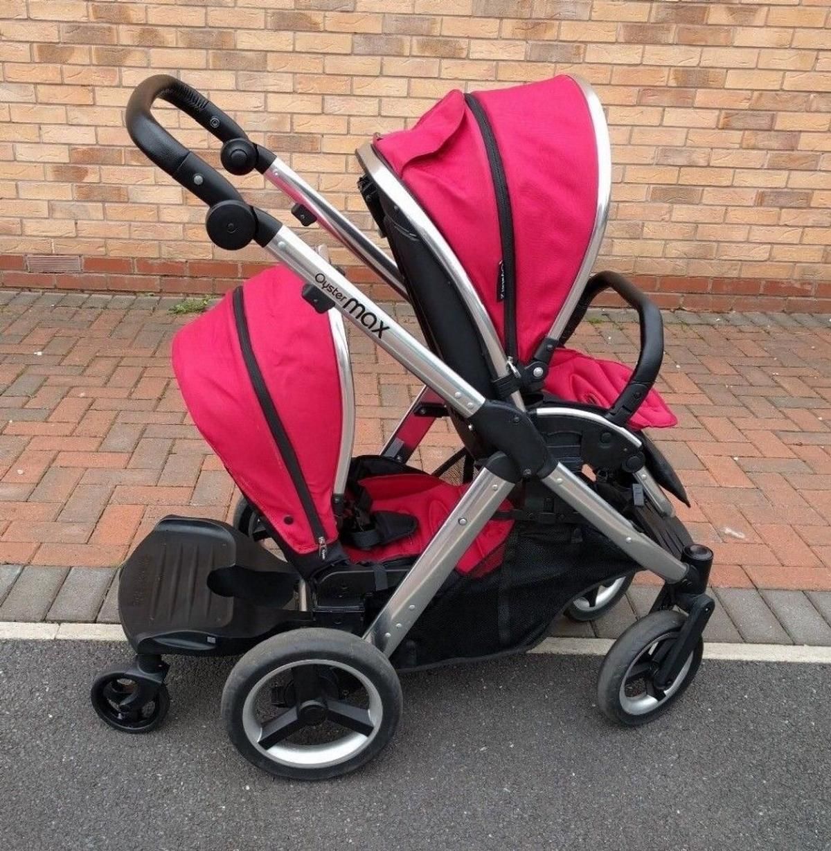 Oyster Double Pram Mothercare Oyster Max 2 Tandem And Buggy Board