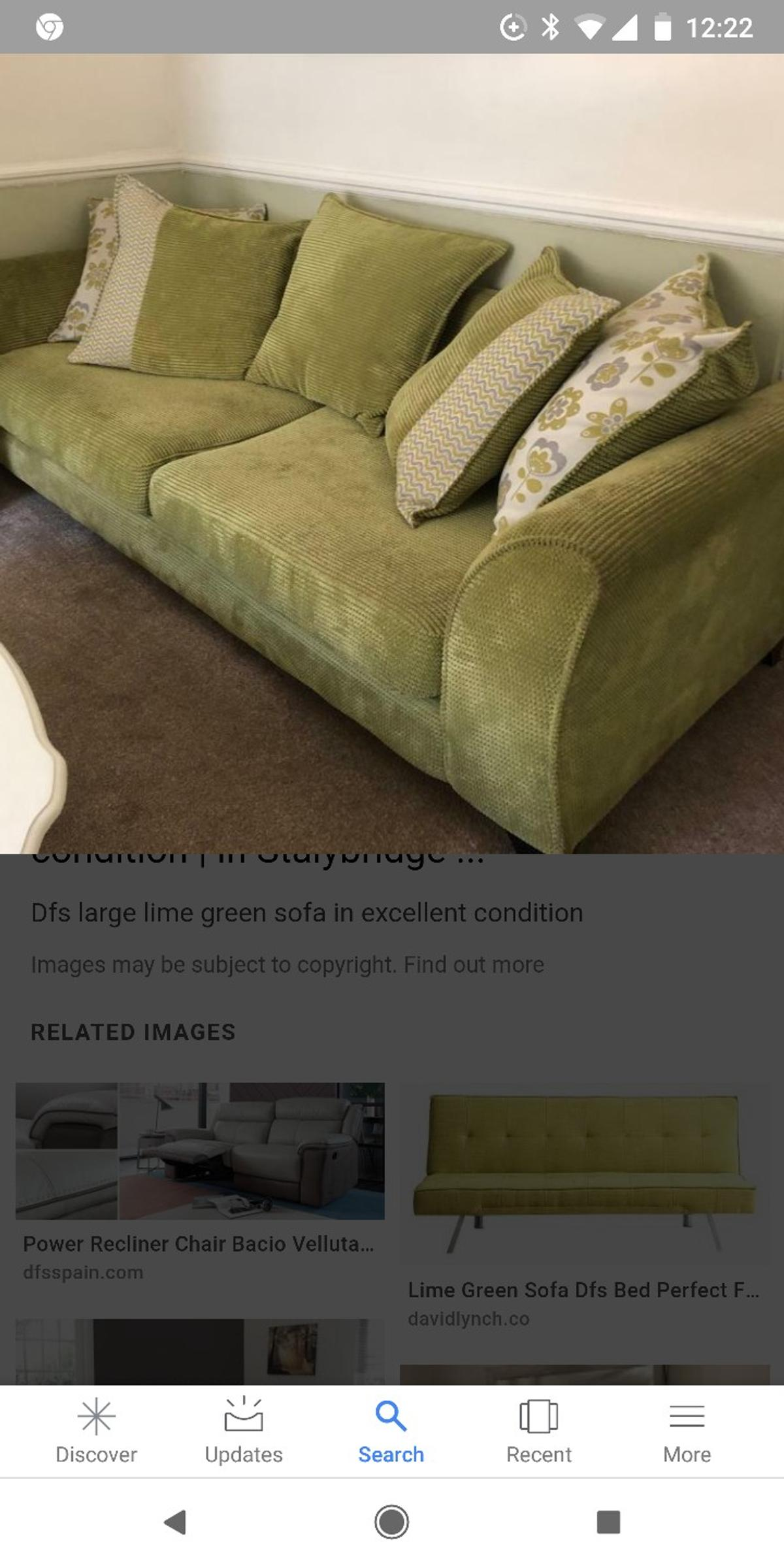 Dfs Lime Green Sofa In Rm19 Purfleet For 30 00 For Sale Shpock