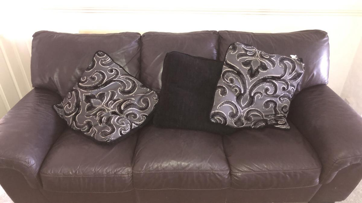Couch Kaufen Three Piece Brown Leather Sofa