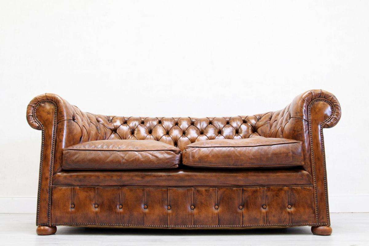 Vintage Couch 2 Chesterfield Sofa Leder Antik Vintage Couch In 32791 Lage Für