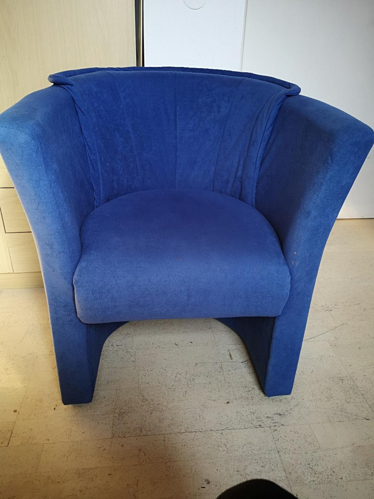 Sessel Blau Blauer Sessel - Letzte Chance In 63628 Bad Soden-salmünster For €10.00 For Sale | Shpock
