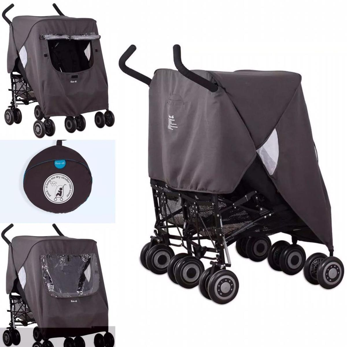 Double Stroller Rain Cover New Universal Double Pushchair Rain Cover