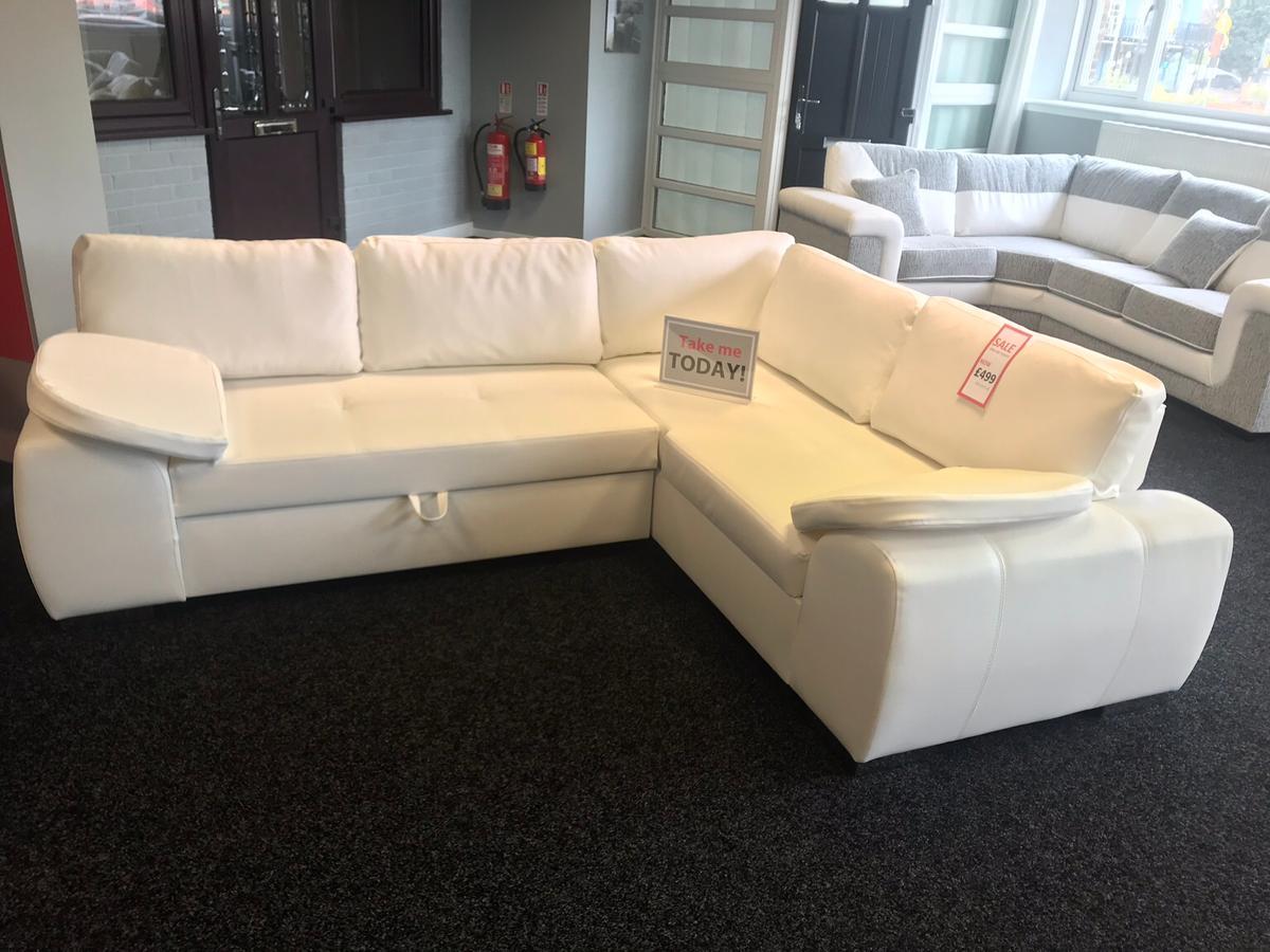 Ex Display Sofa Sale Ex Display Sofa Bed Faux Leather White