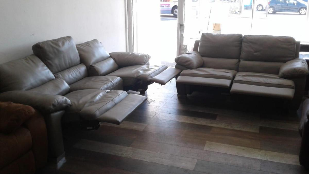 Sofa Sale Harveys Harveys Grey Leather Sofa Electric Recliner
