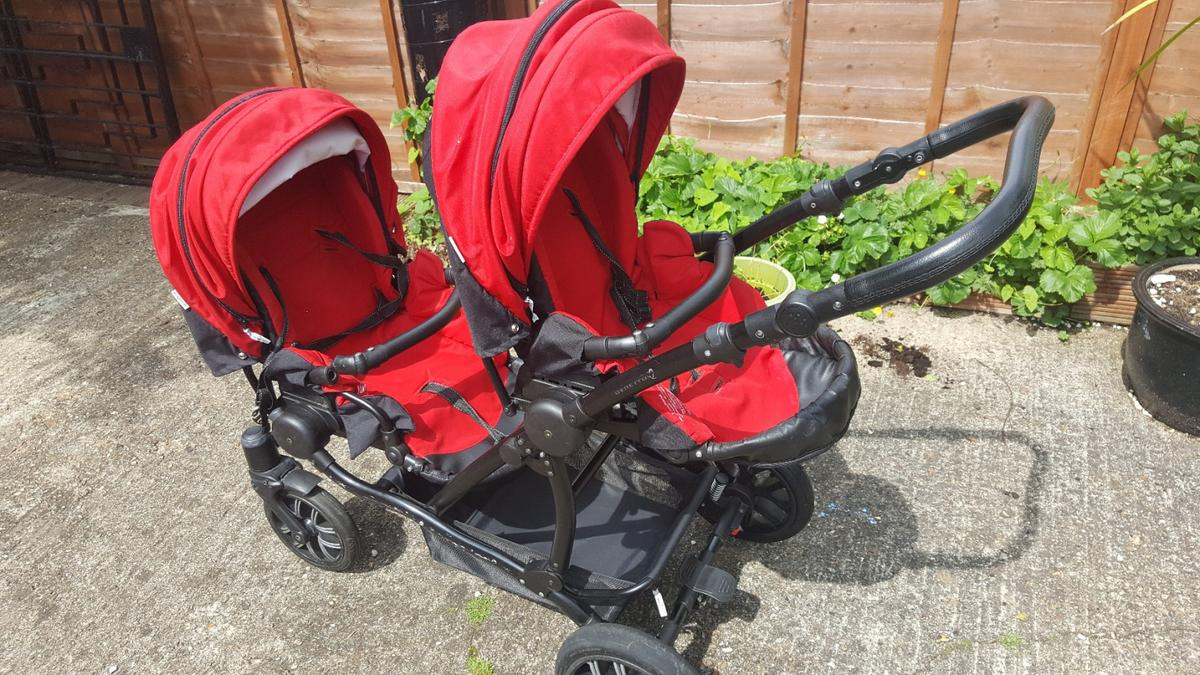 Twin Stroller And Carseat Twin Pram Stroller 3 In 1 Bebetto 42 In W13 London Borough