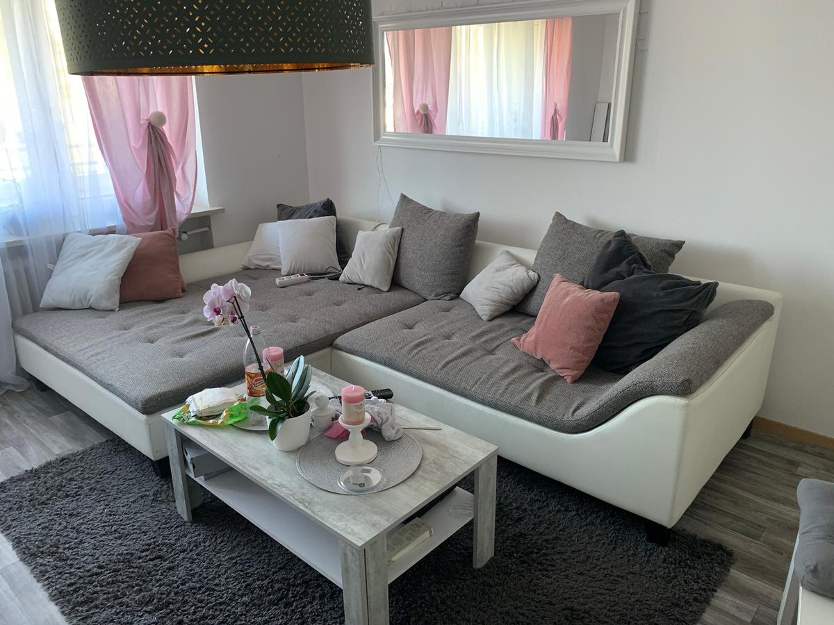 Couch Wohnlandschaft Sofa Grau Weiß In 82178 Puchheim For 290 00 For Sale Shpock