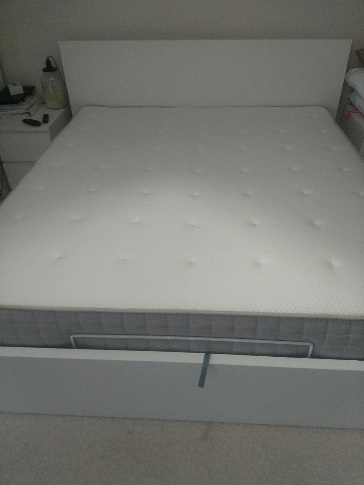 Ikea Super King Mattress Super King Size Ikea Ottoma Bed With Mattress In Se8 London For