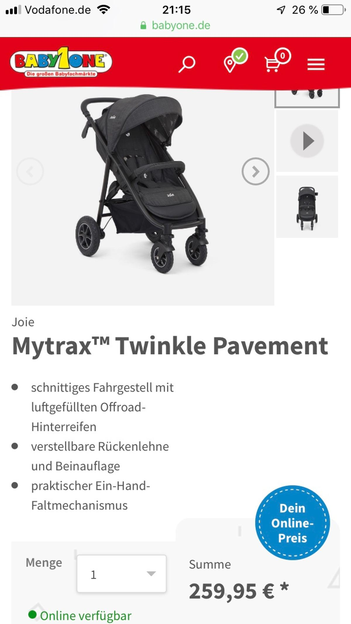 Joie Nitro Babyone Joie Buggy Mirus In 67067 Ludwigshafen Am Rhein For 70 00