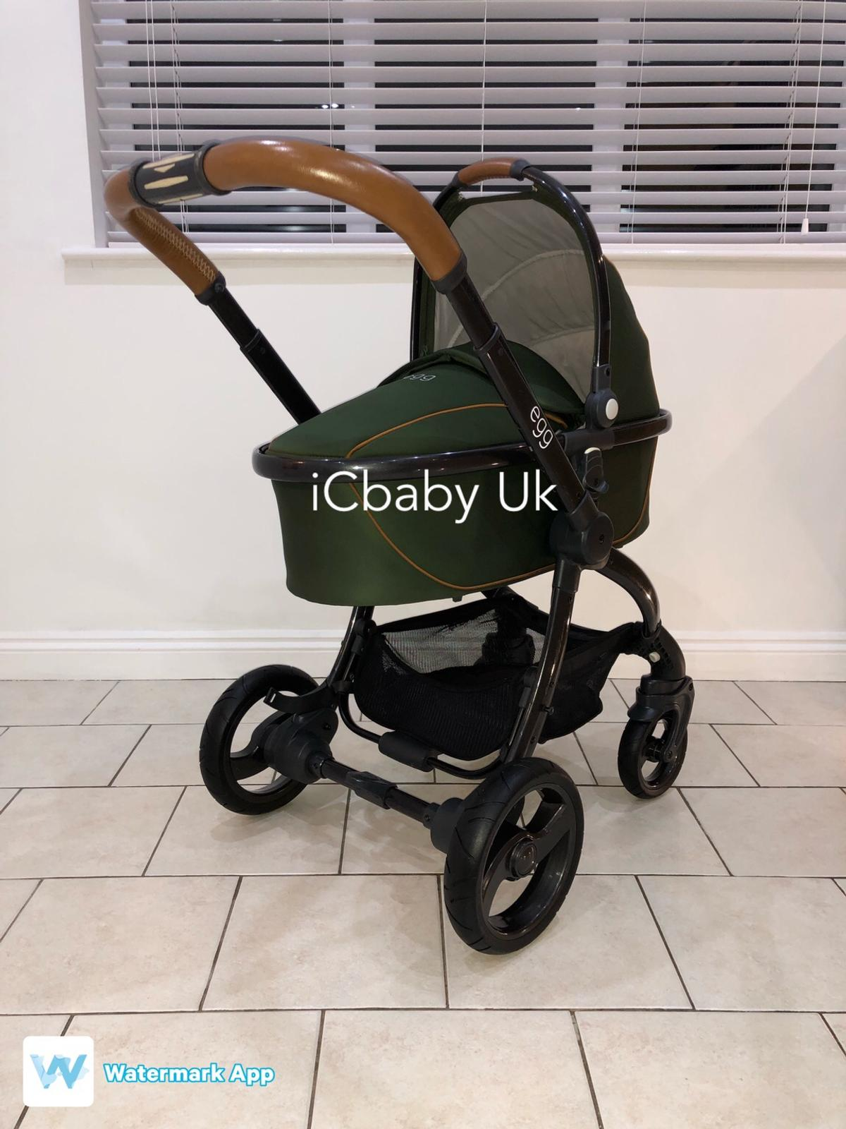Egg Pram Replacement Wheels Babystyle Egg Pram In Forest Green In Cv23 Rugby For 700 00