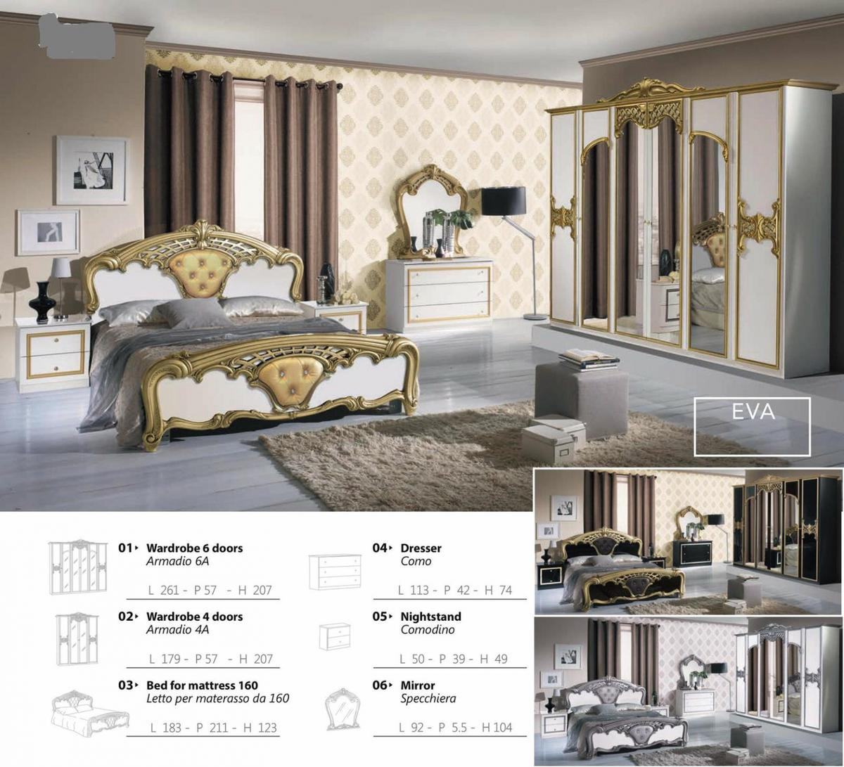Italian Furniture Bedroom Eva Full Italian Bedroom Set Furniture