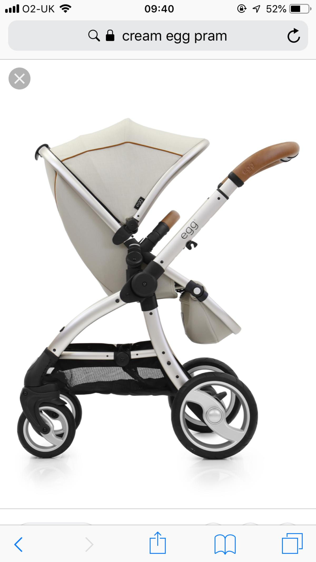 Egg Pram Gunmetal Egg Pram Cream In Cw2 Wistaston For 300 00 For Sale Shpock