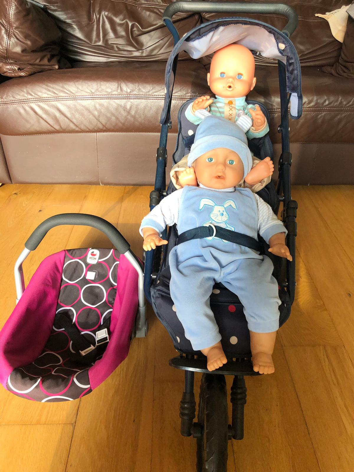 Toy Buggy With Car Seat Dolls Double Decker Toy Buggy Carrier